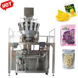 Automatische horizontale aardappelchip gedroogde vruchten Eierrol verpakking Machine met zakken