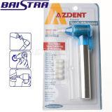 Qualitäts-blaue zahnmedizinische Zähne, die Poliermittel weiß werden