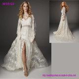 Heißes verkaufenMorden Art-Tulle-Hochzeits-Kleid-bräutliches volles Spitze-Kleid