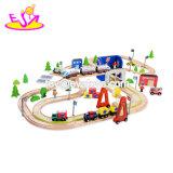 Funny Interactive 129 PCS crianças Madeira Toy Cars Race Track para venda W04C081