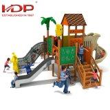 As crianças de personalização parque infantil exterior de madeira Equipamento Deslizante