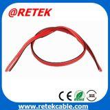 Preto e vermelho do cabo do altifalante paralela