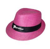 Chapéu de palha feito sob encomenda da alta qualidade da venda por atacado do logotipo
