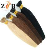 Extensão minúscula desenhada dobro do cabelo humano da ponta do cabelo brasileiro da cor de Brown