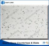 Белый камень кварца цвета для Countertop кухни с высоким качеством (белые цветы)