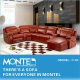 Móveis domésticos Fashion sofá de canto, sofá de couro de Reclinação moderno K130