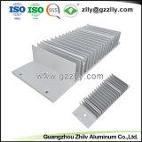 Nuevo diseño de aluminio plateado Anodize Perfil para el disipador de calor