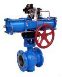 PTFE ausgekleidetes pneumatisches V-Kanal Kugelventil (Q670F46)