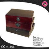 Boîte de rangement en cuir classique personnalisé (8712)