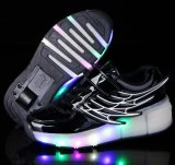 Chaussures simples de clignotement Shinning de patin de rouleau de roue