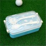 Bento Kasten-Nahrungsmittelbehälter-Plastikmittagessen-Kasten mit Gabel und Löffel 20019
