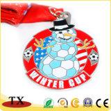 2018リボンが付いているカスタマイズされた金属によって浮彫りにされるロゴメダルのための熱い販売の記念品メダル