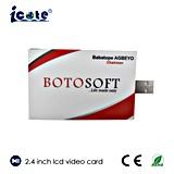 prix d'usine 2.4 pouces écran LCD pour les produits de la carte vidéo Introduction avec USB