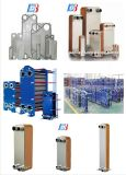 Bl20 스테인리스 격판덮개 구리 열 펌프 시스템을%s 놋쇠로 만들어진 격판덮개 열교환기 콘덴서 그리고 증발기