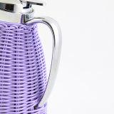 De gepersonaliseerde Pot van de Koffie van de Thermosfles van de Rotan van de Kleur van het Ontwerp Mooie Met de hand gemaakte Verpakkende (JGIG)