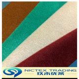 Fake tissu de laine, T/R Tweed brossé enduire tissu, de couleur unie