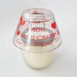 Dulce Corazón Set de regalo de boda vela con cúpula de cristal