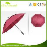 Fördernder automatischer starker doppelte Schicht-im Freien windundurchlässiger Golf-Regenschirm