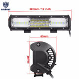 트럭 SUV를 위한 11 인치 차 LED 일 표시등 막대 세겹 줄 반점 플러드 결합 Offroad 가벼운 모는 램프