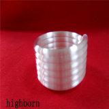 Vidro de quartzo opaco Aquecedor de tubos helicoidais