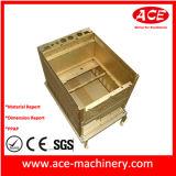Caixa do metal de folha com processo de dobra