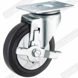 100mm elastisches mittleres Aufgaben-Fußrollen-Gummirad G3414