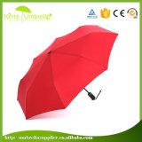 Hochwertiger kundenspezifischer Regen-Regenschirm-Hersteller China des Fabrik-Preis-3 faltender