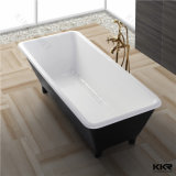 Moderne Badezimmer-Möbel-künstliche Steinkleine Eckbadewannen
