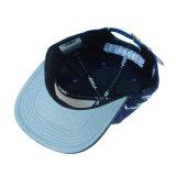Custom 3D Bordados Man Hat Fashion PU Tampa de couro vertida Snapback tampa plana de algodão