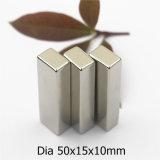 Starke Block-Form-permanenter Neodym-Magnet mit dem Nickel, das 50X15X10mm beschichtet