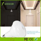 動きによって作動する12W LEDの電球Br30の日光5000Kの動きセンサーLED夜ライト
