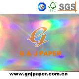 Diseño personalizado de buena calidad de la junta de papel metalizado de rollo de papel holográfico