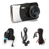 """4"""" с двумя объективами автомобильный видеорегистратор DVR видеокамеры Cam Registrator панели приборов с камеры заднего вида резервного копирования с расширенным динамическим диапазоном Dashcam ночного видения"""