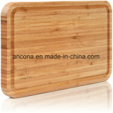 Kitchenware de madeira de bambu natural da placa de estaca do queijo com faca