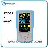 手持ち型Etco2+SpO2モニタのCapnographの二酸化炭素のモニタの忍耐強いモニタのパルスの酸化濃度計