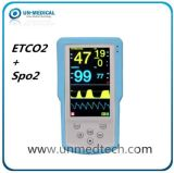 Handheld Etco2+SpO2 Monitor de paciente do monitor