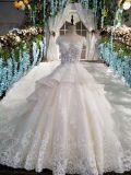 Noiva Gown/2017 na moda nupcial real do vestido de casamento/do trem catedral de Luxious