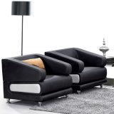 Tipo sofá do plutônio de 2 Seater do couro com base do metal