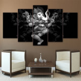 حديثة جدار منزل زخرفة ملصقات يتمثّل فنّ 5 لون هندوسيّة إله [غنشا] فيل لأنّ يعيش غرفة يطبع [هد] صورة زيتيّة أطر
