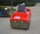 단단한 고무 바퀴 타이어 4t/6t 전기 토우 트랙터