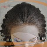 Parrucca francese piena delle donne di Afro del merletto (PPG-l-01044)