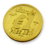 Подгонянная золотая монетка пробела металла логоса собаки воинская (MC-04)