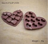 Moulage de chocolat de gâteau de silicones de forme de coeur de catégorie comestible