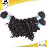 Extensions brésiliennes non transformées de cheveux humains de 100%