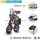 250W 무브러시 모터를 가진 전기 자전거를 Assit 접히는 세륨 12 인치 36V