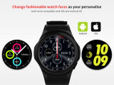 心拍数のモニタが付いている新しい3G GPSの人間の特徴をもつスマートな腕時計の携帯電話のWiFiのスマートな防水L1腕時計の電話