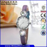 De Polshorloges van de Manier van het Horloge van het Kwarts van het Embleem van de douane voor Dames (wy-077D)