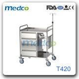 病院のステンレス鋼の看護のカート、薬のトロリー