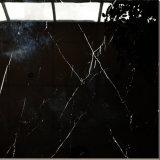 Venta directa de fábrica de pared decorativo pulido azulejos de porcelana negro limpio