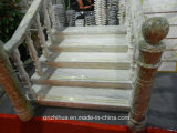 Punti di pietra del granito e scale antiscorrimento a spirale di marmo personalizzate colonne montanti